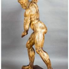 Giambologna (pseudonimo di Jean de Boulogne) (Douai, Fiandre 1529 – Firenze 1608) Ercole con la clava, seconda metà del sec.XVI Scultura preparatoria in pastiglia e stucco, cm.83x18x30.